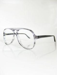 cea7894dd071 Vintage 1980s Aviator Glasses - Light Grey Aviator Glasses - Mens or Womens  Retro Glasses - Authentic Vintage Deadstock Eyewear