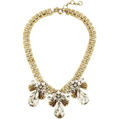 J.Crew Gold-tone, crystal and cubic zirconia necklace ($135) ❤ liked on Polyvore featuring jewelry, necklaces, accessories, gold, cubic zirconia necklaces, crystal jewellery, j.crew, gold tone jewelry and zirconia necklace