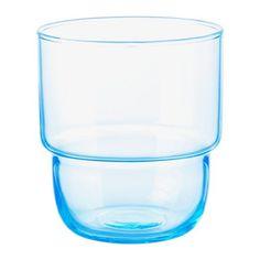MUSTIG Glas IKEA Kunnen in elkaar gestapeld worden om ruimte te besparen in de kasten als ze niet worden gebruikt.