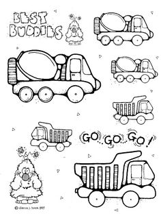 dj inkers little boys and their toys cute clipart - Yesi Escamilla - Picasa Web Albums