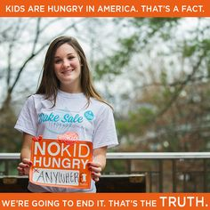 Join Jocelyn and host a Bake Sale for No Kid Hungry to help END hunger in America.