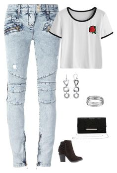 """""""Untitled #1710"""" by netteskytte on Polyvore featuring Balmain, Charlotte Russe, M&Co and Aqua"""