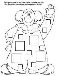 Crafts,Actvities and Worksheets for Preschool,Toddler and Kindergarten.Lots of worksheets and coloring pages. Map Activities, Activities For Kids, Theme Carnaval, Coloring Books, Coloring Pages, Circus Crafts, Clown Party, Shapes Worksheets, Baby Clip Art