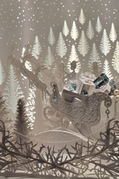 The Tiffany & Co Christmas window in New york - complete with elves, snow, presents and sleigh - jingle all the way!