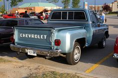 Chevy Stepside - reminds me of my daddy. it's more sentimental then my dreamy, but i will definitely have one of my own! Classic Pickup Trucks, Chevy Pickup Trucks, Lifted Ford Trucks, Gm Trucks, Chevrolet Trucks, Chevy C10, Chevy Pickups, Sport Truck, Classic Chevrolet