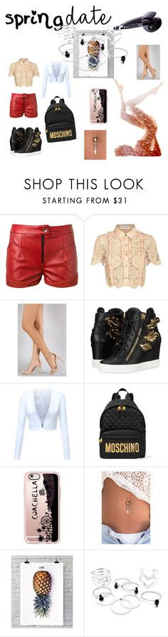 """""""Untitled #31"""" by shy2016 ❤ liked on Polyvore featuring beauty, Magda Butrym, self-portrait, Anne Michelle, Giuseppe Zanotti, Moschino, Casetify and La Pina"""