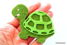 Tortoise Felt Applique Patch by KnicKnackNook on Etsy