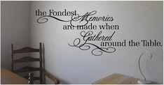 The Fondest Memories - Kitchen - Vinyl Wall Decals