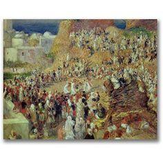 Trademark Fine Art The Mosque Canvas Wall Art by Pierre Renoir, Size: 35 x 47, Multicolor