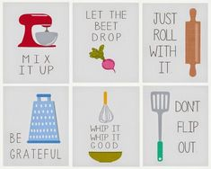 Laura's Plans: Mix it up with printable kitchen wall art