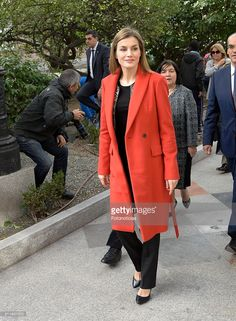 Queen Letizia of Spain visits the Nino Jesus Children's Hospital on February 22, 2016 in Madrid, Spain.