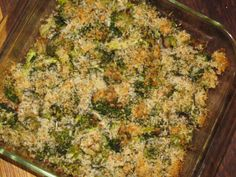Broccoli Potato Casserole with Parmesan Panko Crust- 137 calories - Lose Weight By Eating