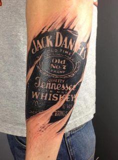 Jack Daniels under skin tattoo Boy Tattoos, Tatoos, Forearm Tattoos, Jack Daniels Tattoo, Jack Tattoo, Tattoo Ink, Piercing Tattoo, Piercings, Body Is A Temple