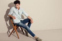 Джинсы и рубашка с длинным рукавом Selected #Stylepit