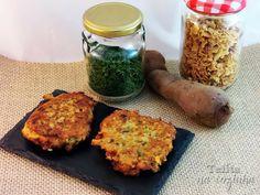pataniscas de batata doce e cebola frita