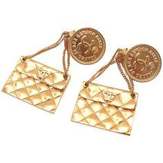 Chanel Miniature Handbag Earrings Rue de Cambon