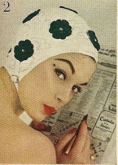 1954 - Jean Patchett: Swim Cap for the lady with style