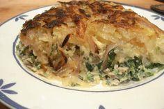 Tortilla de patatas y espinacas – Frittata di patate e spinaci