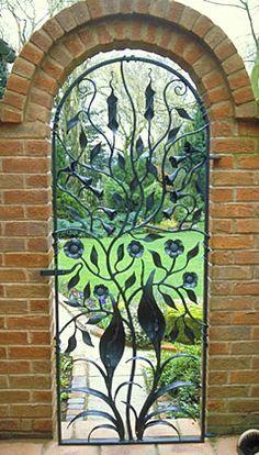 Floral Gate. Private Garden, Hunnington, West Midlands.