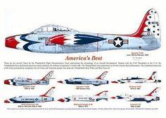US Air Force Thunderbird Aircraft - 1953 to 2013