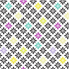 stylized florals retro colors 2 fabric by ravynka on Spoonflower - custom fabric