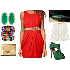 summer party, created by nithak on Polyvore