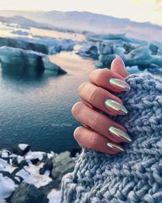 Iceland #gelnails #auroraborealis #northernlights #katystraw #sheffieldnails #eccyroad #nailartaddict