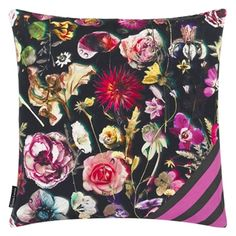 Christian Lacroix Herbarium Crepuscule Cushion from Vertigo Home Floral Cushions, Scatter Cushions, Cushions On Sofa, Throw Pillows, Wallpaper Samples, Fabric Wallpaper, Missoni, Christian Lacroix Wallpaper, Bright Flowers