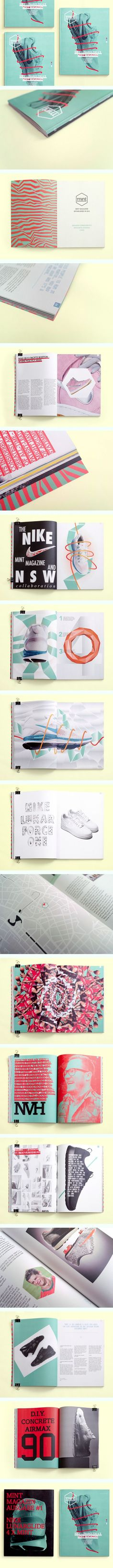 [Editorial Design Served'] MINT Magazine // Sneaker Magazine by Jonas Möllenbeck #editorial: