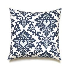 Navy Pillow, 20x20 Pillow Cover, Throw Pillow, Decorative Pillow, Blue Pillow,  Modern Pillows, Cecilia Premier Navy