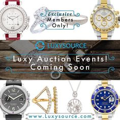 Members ONLY Auctions provided by Luxysource! Join us and host and manage your dedicated private auctions with your key customers and business stakeholders. Luxury Members Only Access only at www.Luxysource.com #technology #ebay #shopify #auctions #jcklasvegas #jewelry #watches #diamonds #gold #jewelrydesign #rolex #cartier