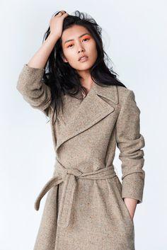 Liu Wen. Love the coat!