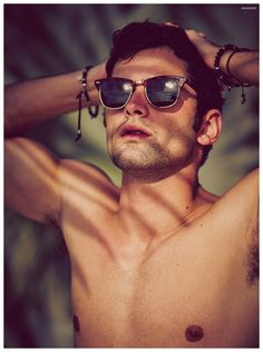 Sean O'Pry Soaks Up the Sun