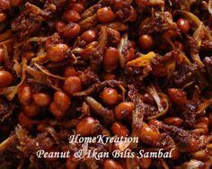 HomeKreation - Kitchen Corner: Peanuts & Ikan Bilis Sambal (Again) Sauce Recipes, Seafood Recipes, Cooking Recipes, Sambal Sauce Recipe, Anchovy Recipes, Bengali Food, Easy Chicken Recipes, Easy Recipes, Malaysian Food