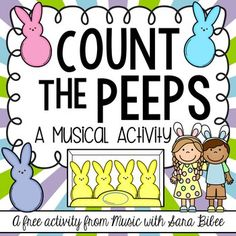 FREE on TpT - Count the Peeps! A Notes and Rests Activity - Music with Sara Bibee - This is a music/math activity that could help review these note and rest durations.  Could also be good for a sub.