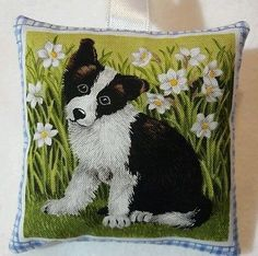 Border Collie Gift / Sheep Dog Fabric Lavender Bag / Border Collie Puppy Gift