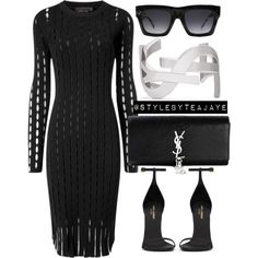 Untitled #1702 by stylebyteajaye on Polyvore featuring polyvore fashion style Alexander Wang Yves Saint Laurent CÉLINE