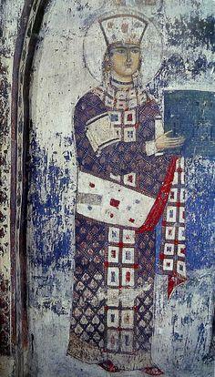 ვარძია. ღმრთისმშობლის მიძინების ეკლესია. ჩრდილოეთი კედელი. თამარ მეფე. 1184-1186 წწ.