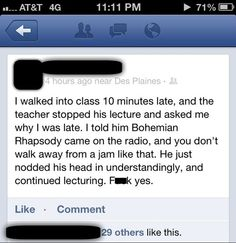 Best late excuse, EVER!