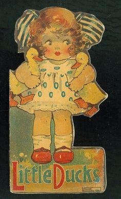 Die Cut Shape Book Little Ducks Agnes Richardson Illustrator C1920 | eBay