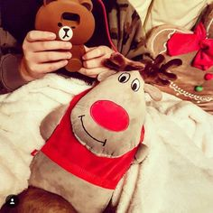 Merry Xmas from @takie_tam_sobie  #merry #xmas #reindeer #christmas #happy #etui #brown #girl #polishgirl