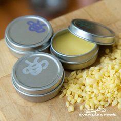 How to Make Healing Homemade Lip Balm- love this!