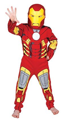 Is it a man or machine. Iron Man is both. He'll look cool, courageous and oh so bright in our Officially Licensed Iron Man Costume. If your little one has always dreamed of becoming a superhero then this Iron Man Costume is just for you. This Costume will have everything your little boy needs to become Tony Shark in an instant.