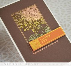 Sunflower Shine Card by Nichole Heady for Papertrey Ink (April 2014)
