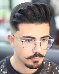 Goatee Styles, Beard Styles For Men, Hair And Beard Styles, Hair Styles, Handlebar Mustache, Beard No Mustache, Hairstyles Haircuts, Haircuts For Men, Barba Van Dyke