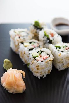 With this healthy sushi rice recipe you can add fun and creativity to create other sushi flavors that you love! What about fusion style sushi or scrumptious California? What's your sushi roll? Enjoy et bon appétit! California Roll Recipes, California Rolls, California Roll Sushi, California Poppy, Sushi Recipes, Seafood Recipes, Cooking Recipes, Healthy Recipes, Easy Recipes