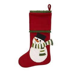 Snowman Stocking (49 SAR) ❤ liked on Polyvore featuring home, home decor, holiday decorations, christmas, christmas stockings, filler, winter, christmas holiday decorations, holiday christmas stockings and christmas holiday decor