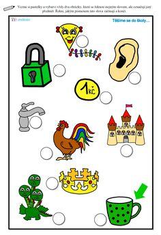 Pracovní list - synonyma Drake, Worksheets, Free Printables, Alphabet, Preschool, Comics, Logos, Fictional Characters, Autism
