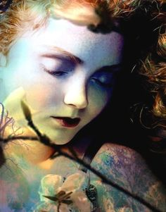 Lily Cole, Fairy Girl...this is so ethereal. I would love it in my bedroom. The calmness is beautiful.
