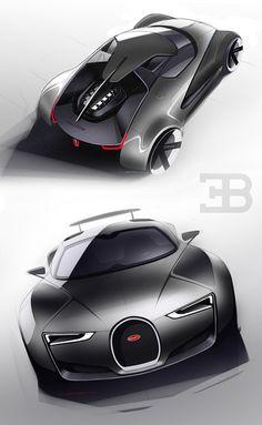 Sketches 2014 on Behance bugatti Bugatti Veyron, Bugatti Cars, Car Design Sketch, Car Sketch, Futuristic Cars, Car Drawings, Future Car, Future Tech, Transportation Design